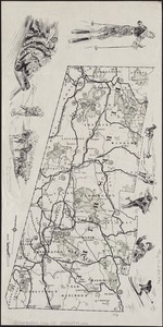 Winter sports map of the Berkshire Hills