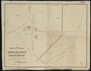 Plan of lands in West-Roxbury, belonging to the estate of Chas. M. Taft