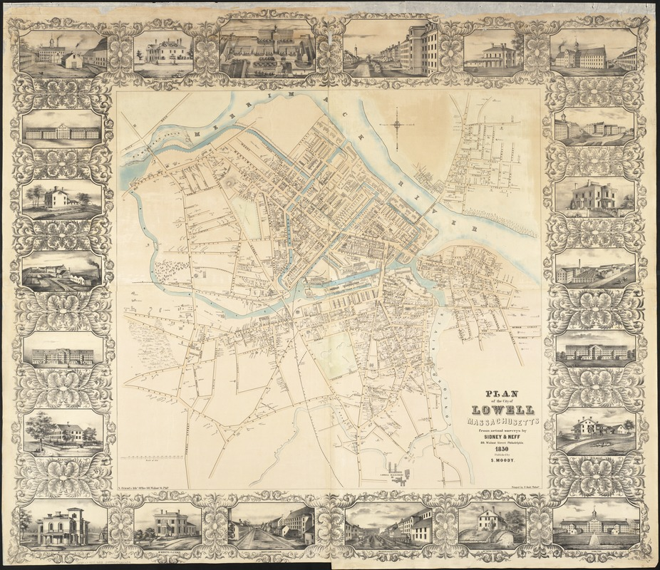 Plan of the city of Lowell, Massachusetts