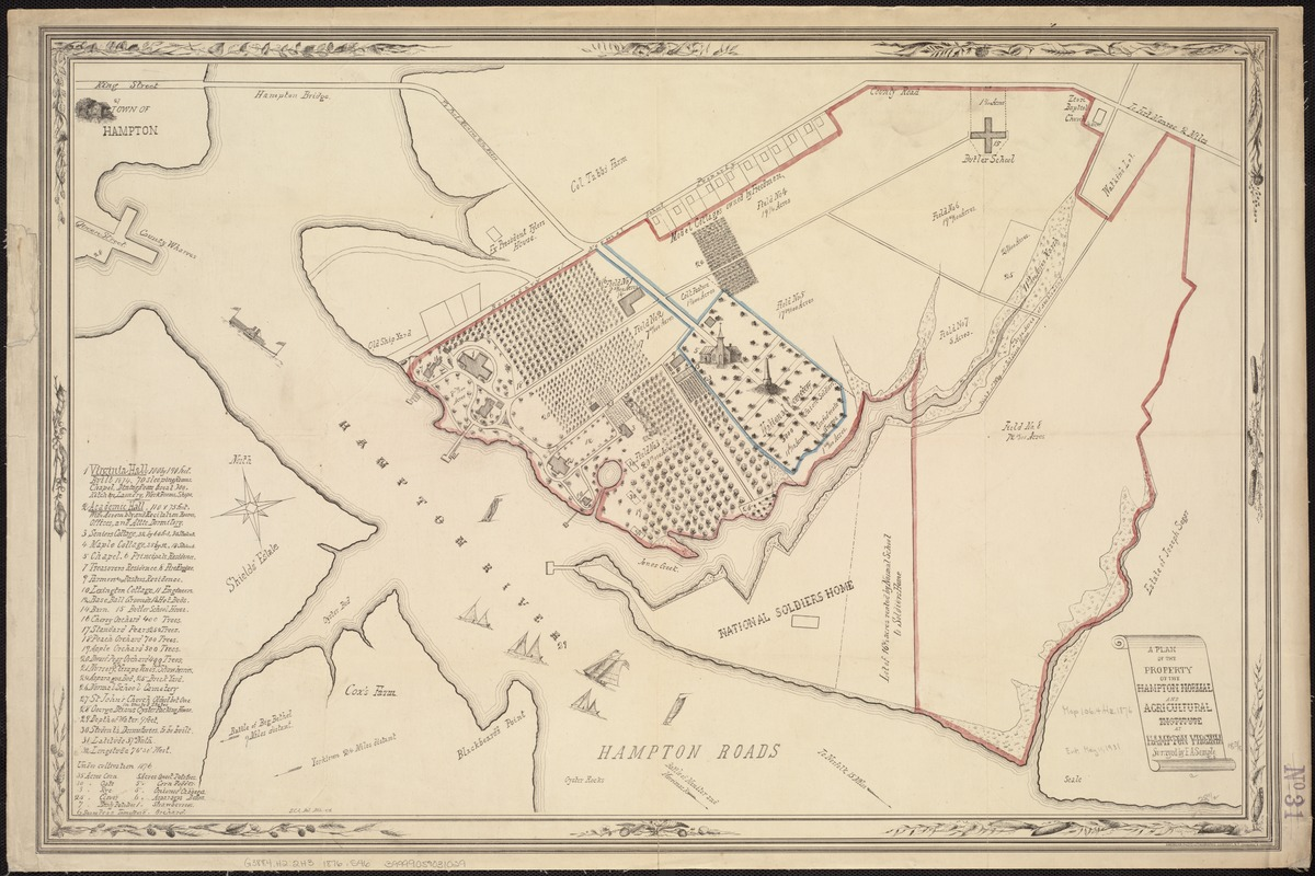 A plan of the property of the Hampton Normal and Agricultural Institute at Hampton Virginia