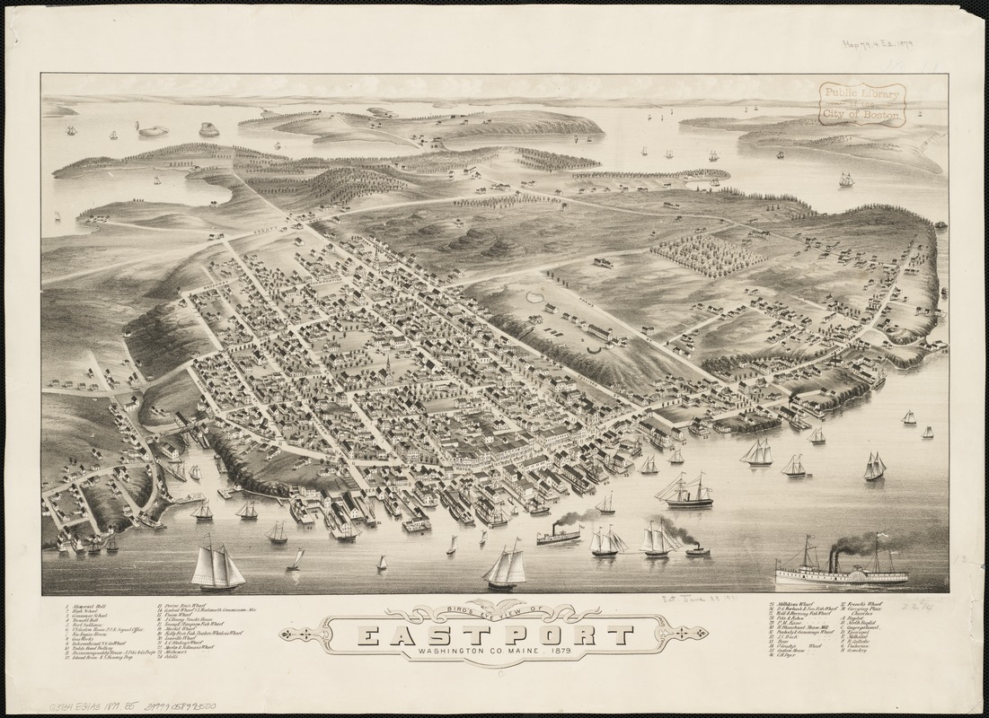 Bird's eye view of Eastport, Washington Co., Maine