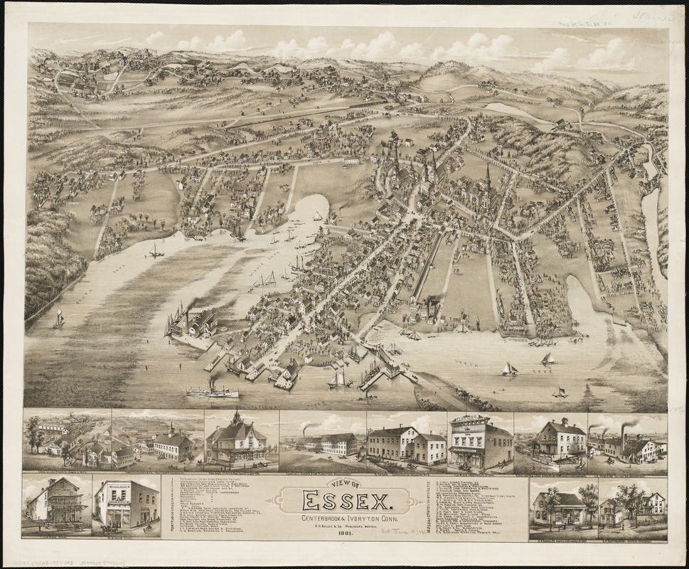 View of Essex, Centerbrook & Ivoryton, Conn
