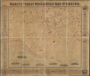 Nanitz' great mercantile map of Boston