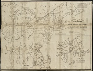 Skeleton map of rail-roads between Cape Canso and St. Louis