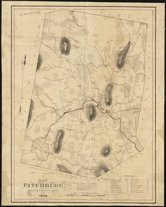 A map of Fitchburg, Mass