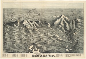 Birds eye view of the White Mountains