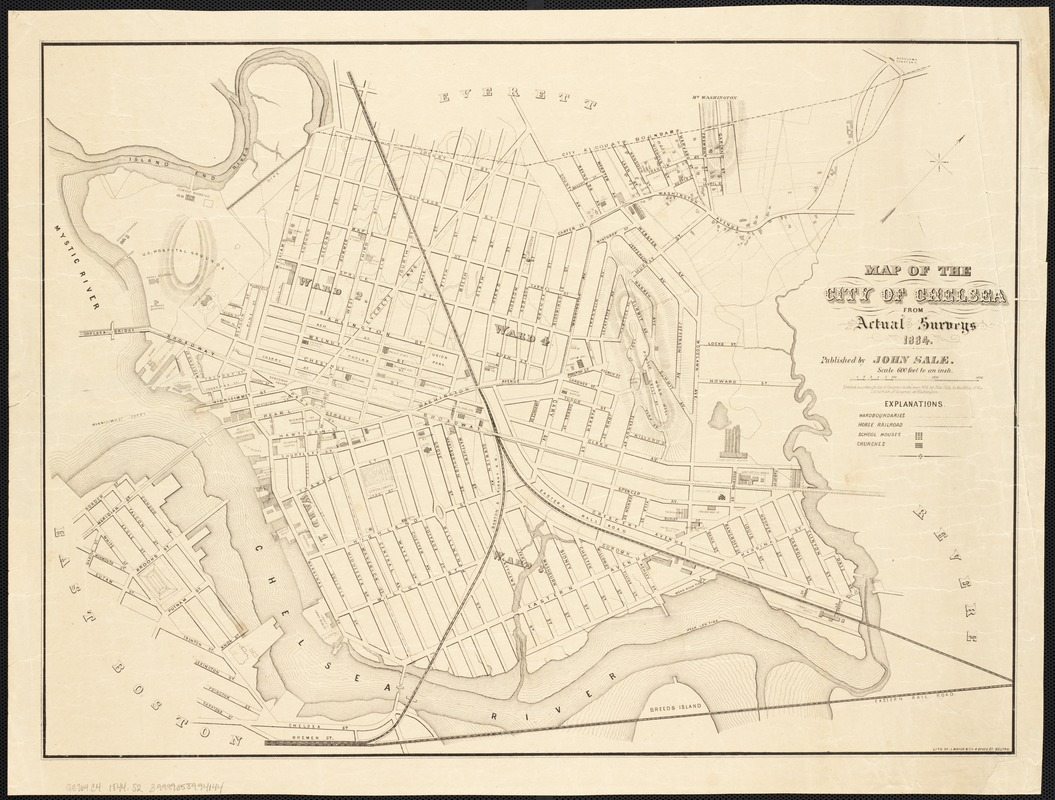 Map of the city of Chelsea from actual surveys