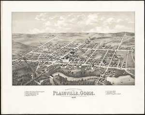 Bird's eye view of Plainville, Conn