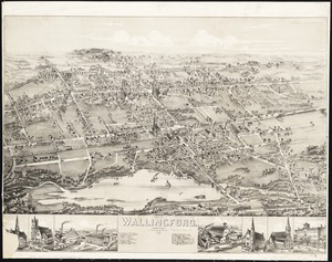 View of Wallingford, Connecticut