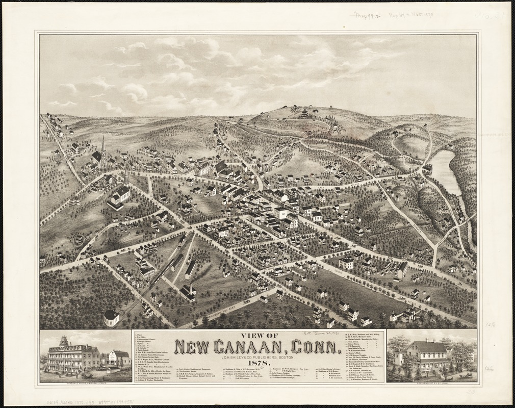 View of New Canaan, Conn