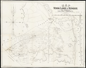Map of mining lands at Newbury, near Newburyport, Essex County, Massachusetts