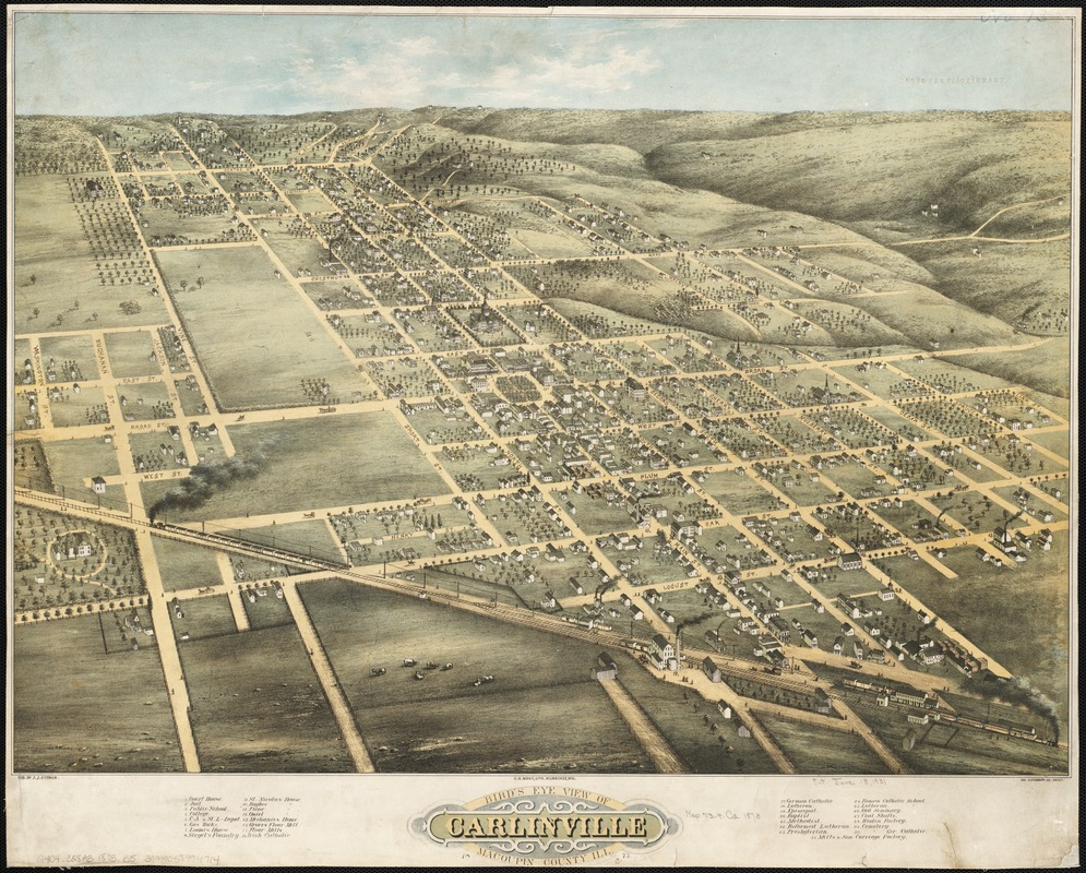 Bird's eye view of Carlinville, Macoupin County Ill