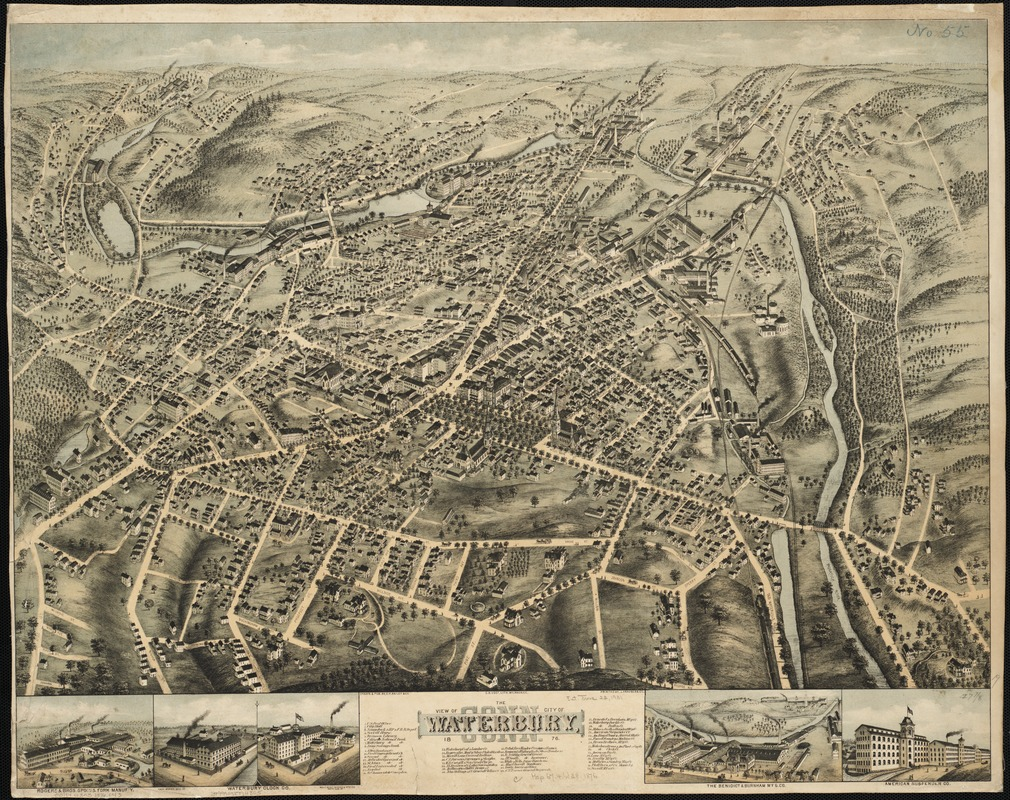 View of the city of Waterbury, Conn