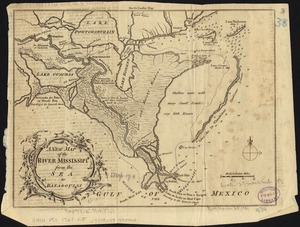 A new map of the River Mississipi from the sea to Bayagoulas
