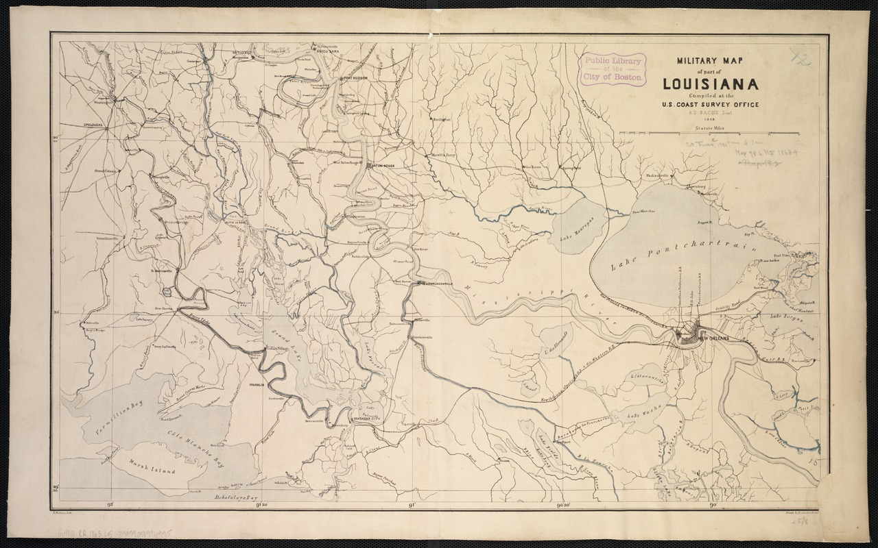 Military map of part of Louisiana