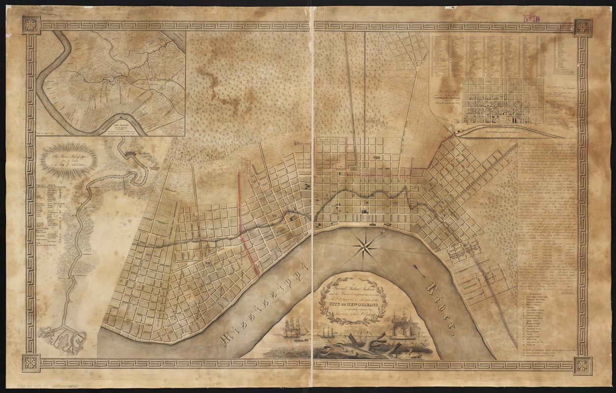 To General Andrew Jackson and his brave companions in arms on the 8th of Jany. 1815 this plan of the city of New Orleans is respectfully dedicated