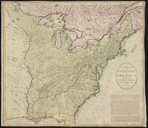 An accurate map of the United States of America, with part of the surrounding provinces agreeable to the Treaty of Peace of 1783
