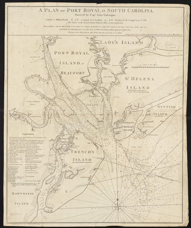 A plan of Port Royal in South Carolina
