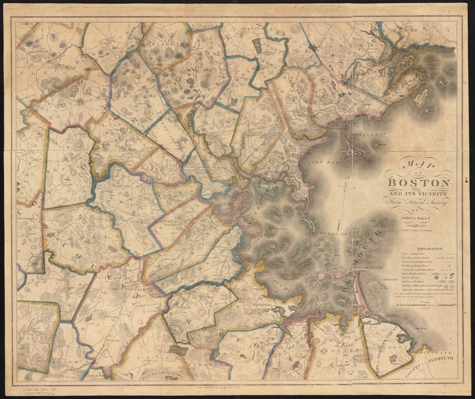 Map of Boston and its vicinity from actual survey
