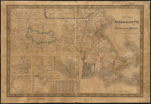 New map of Massachusetts