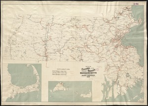 Map of the electric railways of the state of Massachusetts