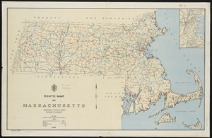 Route map of Massachusetts