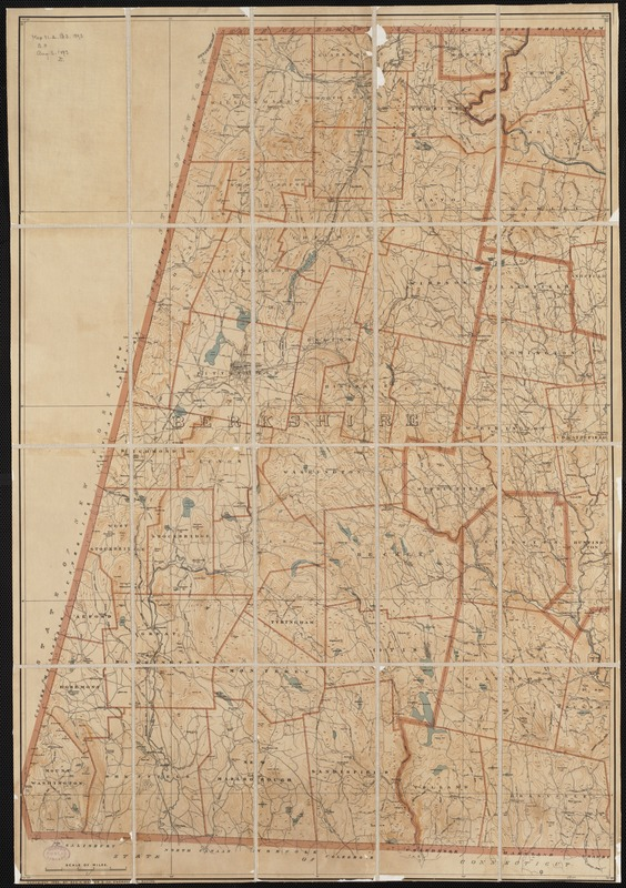 [Map of Berkshire County]