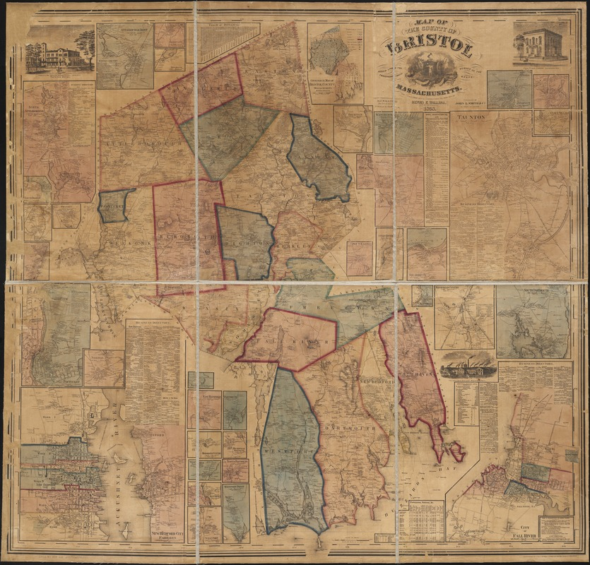 Map of the county of Bristol, Massachusetts