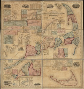 Map of the counties of Barnstable, Dukes and Nantucket, Massachusetts