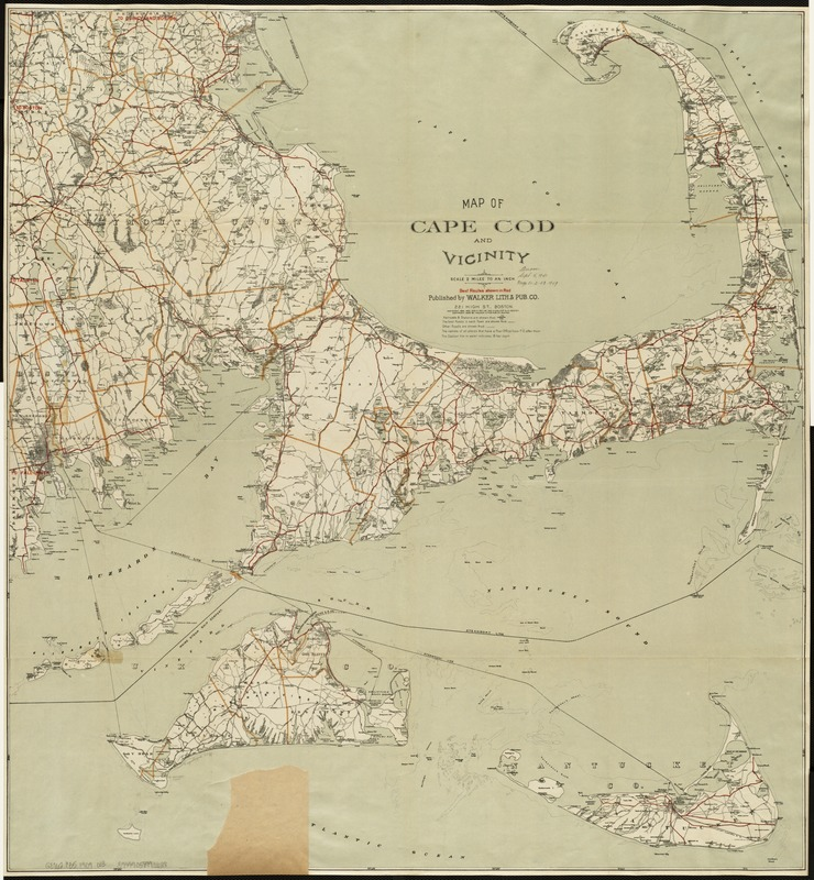 Map of Cape Cod and vicinity - Norman B. Leventhal Map & Education ...