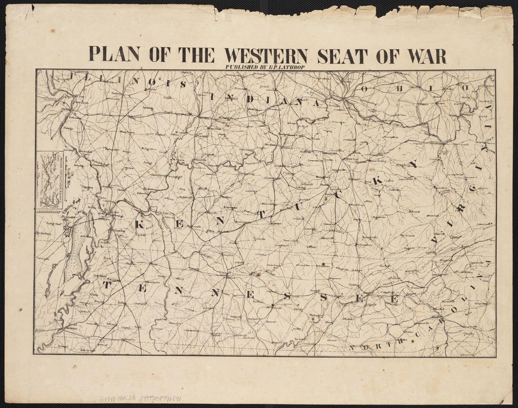 Plan of the western seat of war