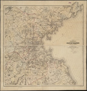 Map of Boston and the country adjacent, from actual surveys