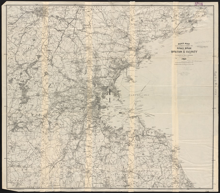 Road map, drawn & engraved expressly for Road book of Boston & vicinity