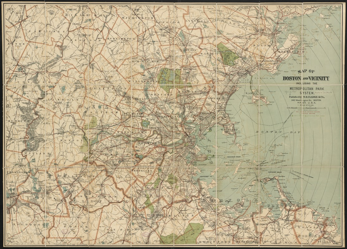 Map of Boston and vicinity including the metropolitan park system