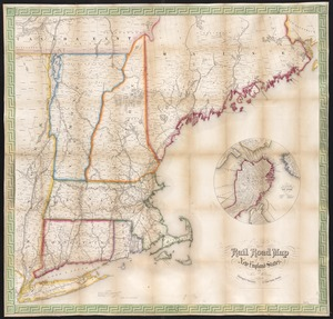 Telegraph and rail road map of the New England states