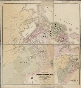 Map of the city of Portsmouth New Hampshire