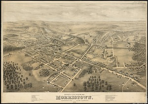 Bird's eye view of Morristown, Morris Co., New Jersey