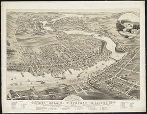 Panoramic view of the city of Calais, St. Stephen and Milltown