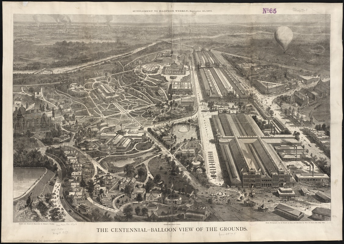 The Centennial-balloon view of the grounds