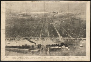 Bird's-eye view of the city of Philadelphia