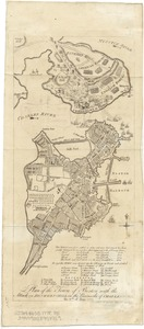Plan of the town of Boston with the attack on Bunkers-Hill in the peninsula of Charlestown the 17th of June 1775