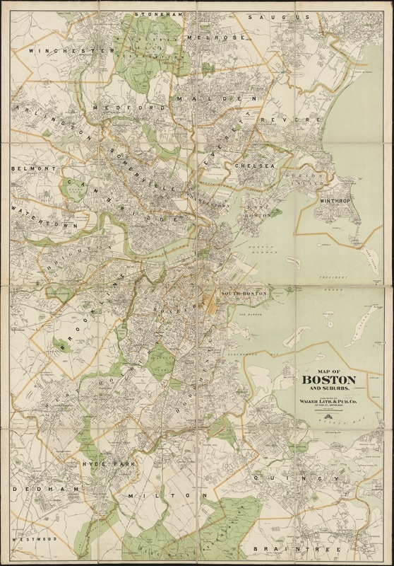Map of Boston and suburbs - Norman B. Leventhal Map & Education Center