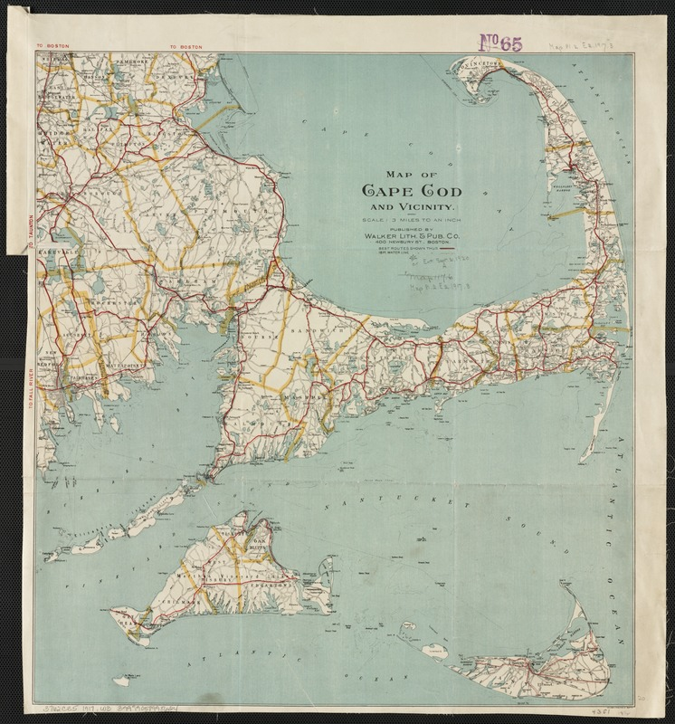 Map of Cape Cod and vicinity