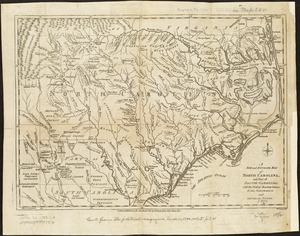 A new and accurate map of North Carolina, and part of South Carolina, with the field of battle between Earl Cornwalis and General Gates