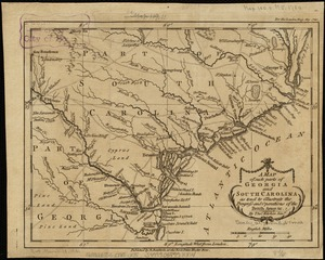 A map of such parts of Georgia and South Carolina as tend to illustrate the progress and operations of the British Army, &c