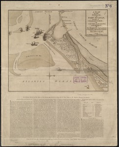 A plan of the attack of Fort Sulivan, the key of Charlestown, in South Carolina, on the 28th. of June 1776