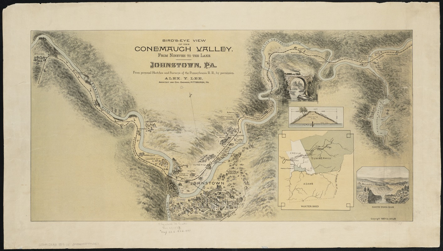 Bird's-eye view of the Conemaugh Valley, from Nineveh to the Lake