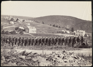 22nd New York State Militia on Maryland Heights, near Harpers Ferry