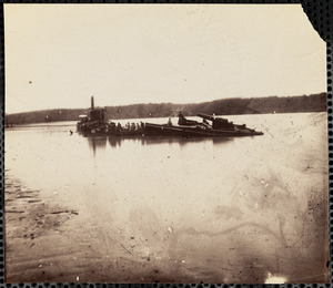 Confederate Gunboat Sunk in James River