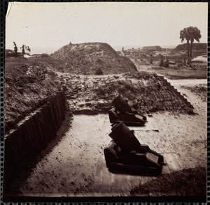 Fort Moultrie, Charleston Harbor interior, April 1865